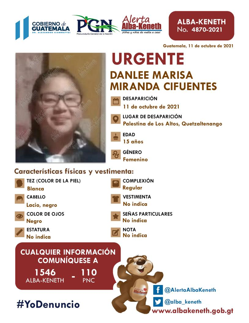 Danlee Marisa Miranda Cifuentes