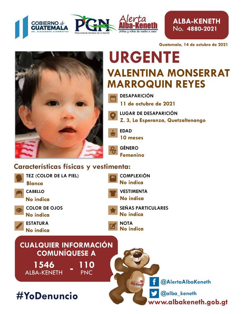 Valentina Monserrat Marroquin Reyes