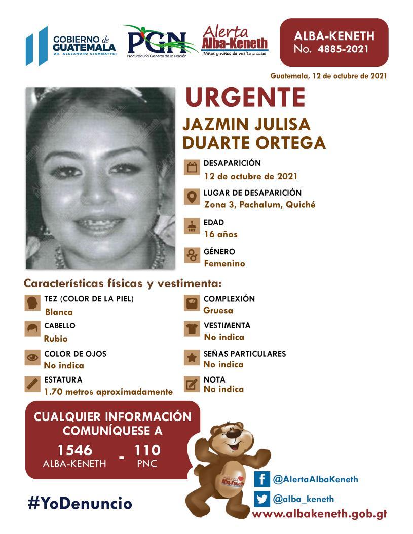 Jazmin Julisa Duarte Ortega