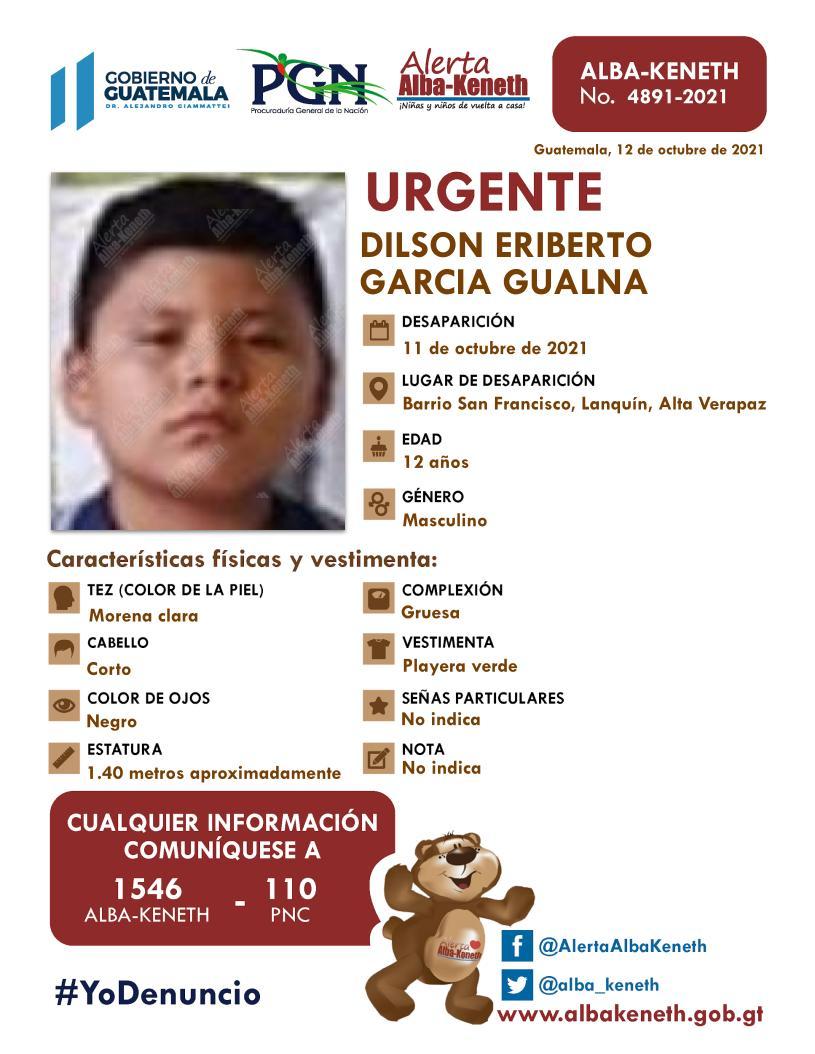Dilson Eriberto Garcia, Gualna