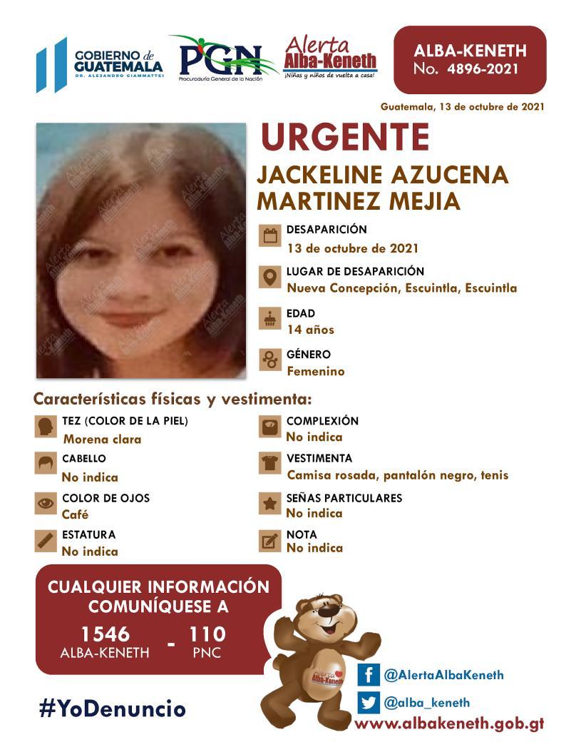 Jackeline Azucena Martinez Mejia