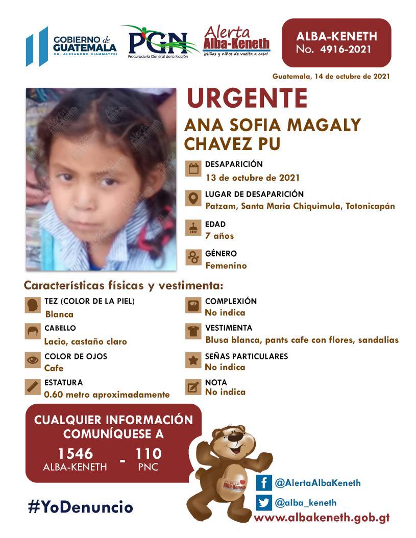 Ana Sofia Magaly Chavez Pu