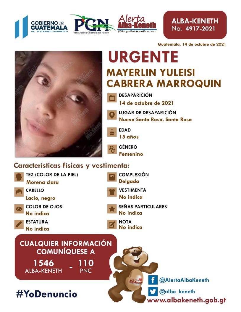 Mayerlin Yuleisi Cabrera Marroquin
