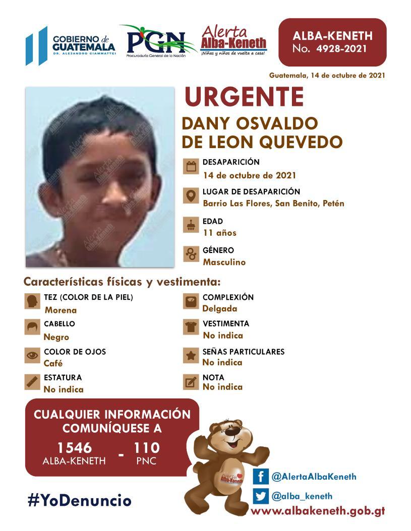 Dany Osvaldo de Leon Quevedo