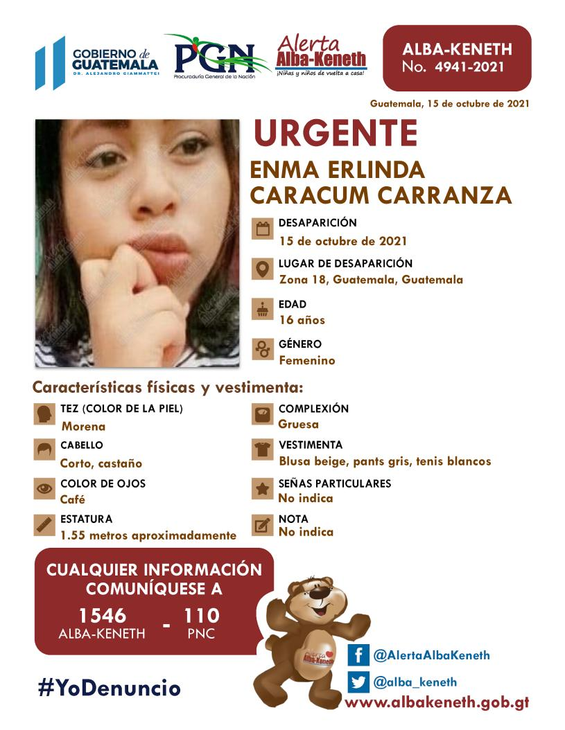 Enma Erlinda Caracum Carranza