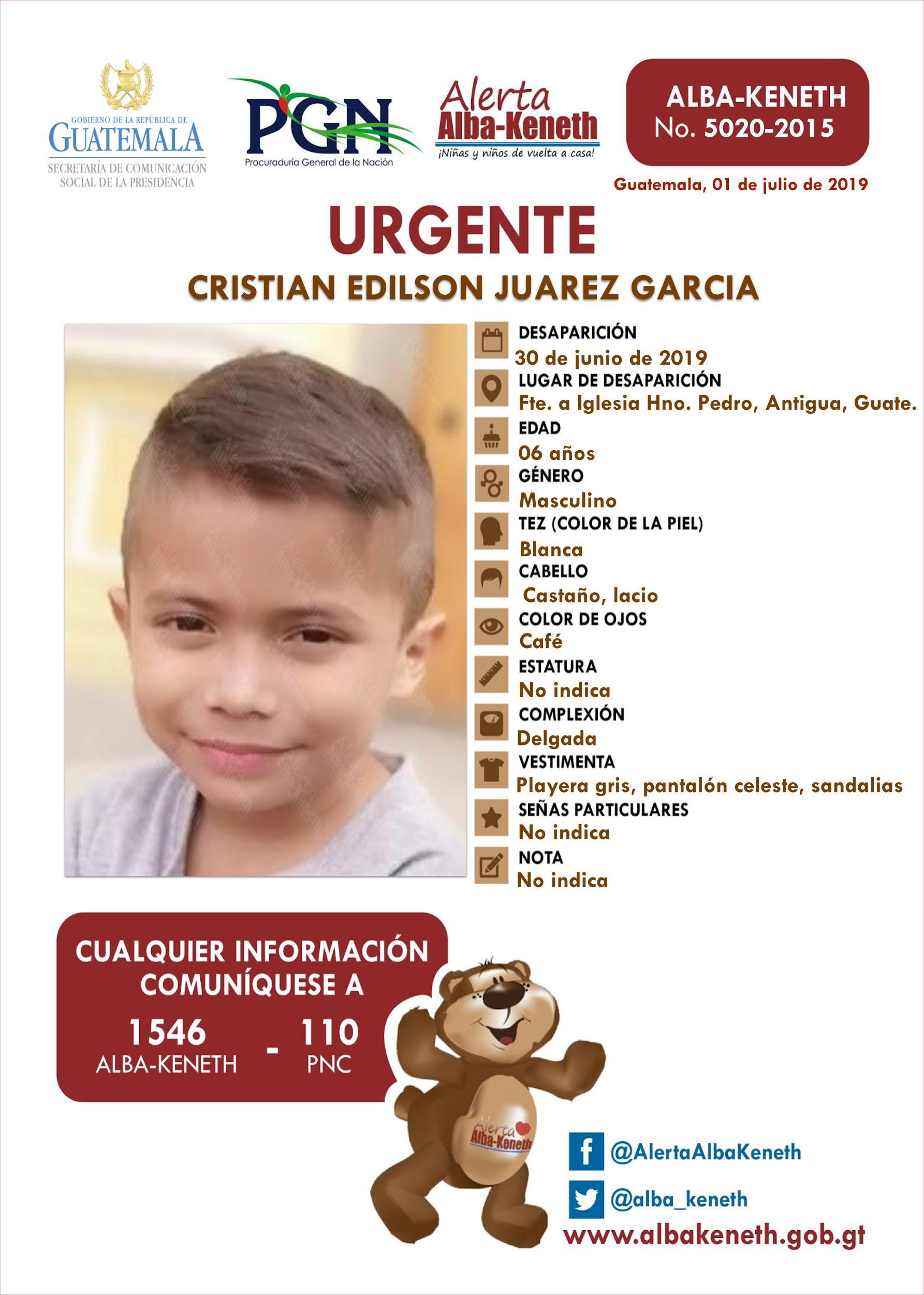 Cristian Edilson Juarez Garcia